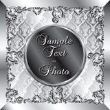 De Zilveren Achtergrond van het huwelijk Royalty-vrije Stock Fotografie