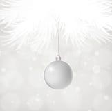 De zilveren bal van Kerstmis vector illustratie