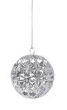 De zilveren bal van Kerstmis Stock Foto's