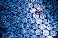 De zilveren blauwe kwarten spreiden zelfs het interessante ontwerp van de patroontextuur uit Stock Afbeeldingen