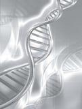 De zilveren bundels van DNA vector illustratie