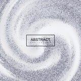 De zilveren Confetti schittert op Romige Wervelende Achtergrond stock illustratie