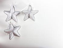 De zilveren decoratie van Kerstmis Royalty-vrije Stock Foto
