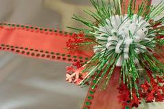 De zilveren Gift van Kerstmis Stock Fotografie
