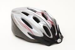 De zilveren helm van de fiets Stock Afbeelding