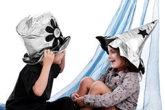 De zilveren hoeden van Halloween Royalty-vrije Stock Fotografie
