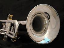 De zilveren Klok van de Trompet royalty-vrije stock foto's