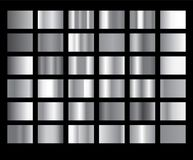 De zilveren metaalillustratie gradiënt van de achtergrond vectorpictogramtextuur Realistisch abstract ontwerp naadloos patroon vo vector illustratie