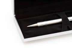 De zilveren pen Stock Fotografie