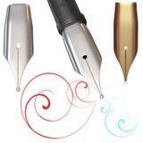 De zilveren pen stock illustratie