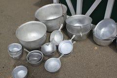 De zilveren pot van de tingieter Royalty-vrije Stock Afbeeldingen
