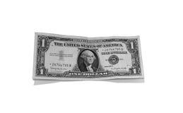 De zilveren Rekening van de Dollar Stock Afbeeldingen