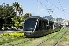 De zilveren Spoorweg van de Tram Royalty-vrije Stock Foto