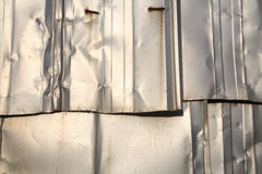 De zilveren textuur van de zinkmuur Royalty-vrije Stock Afbeelding