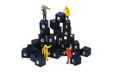 De zinnen van de bouw Stock Afbeelding