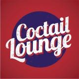 De zitkamer uitstekend teken van Coctail Royalty-vrije Stock Foto's