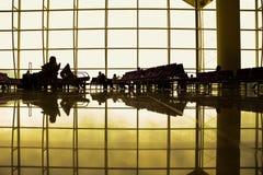 De Zitkamer van de luchthaven Stock Foto's