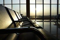 De zitkamer van de luchthaven Stock Afbeeldingen