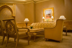 De zitkamer van het het Paleishotel van emiraten royalty-vrije stock afbeelding