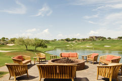 De Zitkamer van het Huis van de Club van de toevlucht van het Golf van Scottsdale Stock Afbeeldingen