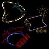De zitkamertekens van het neon klaar voor uw tekst Royalty-vrije Stock Foto's