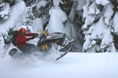 De Zitstok van de sneeuwscooter Royalty-vrije Stock Foto