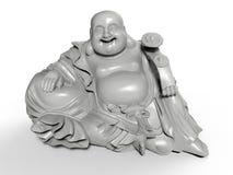 De zittende Gelukkige standbeelden van Boedha vector illustratie