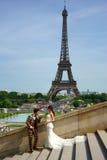 De Zitting Parijs van de huwelijksfoto Royalty-vrije Stock Afbeelding