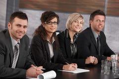 Commercieel team op vergadering royalty-vrije stock afbeelding