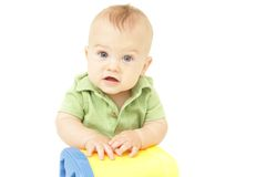 De Zitting van de baby Stock Foto