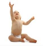 De zitting van de baby Royalty-vrije Stock Foto's