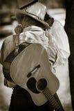 De Zitting van de Jam van de cowboy Stock Foto's