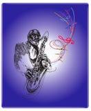 De zitting van de jazz vector illustratie