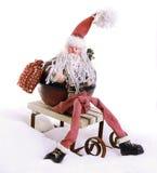 De zitting van de Kerstman royalty-vrije stock afbeelding