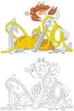 De zitting van de krab op het anker Royalty-vrije Stock Afbeeldingen