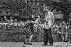 De zitting van de straatfoto in Vietnam Royalty-vrije Stock Fotografie