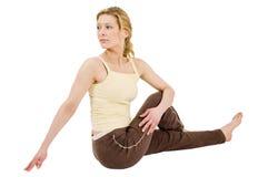De zitting van de yoga Stock Afbeelding
