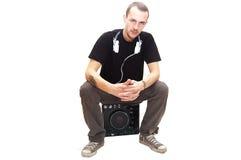 De zitting van DJ stock afbeeldingen