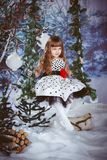 De zitting van het meisje op een schommeling Royalty-vrije Stock Foto's