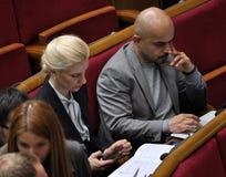In de zittingszaal van Verkhovna Rada van de Oekraïne royalty-vrije stock afbeeldingen