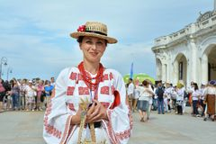 ` De Ziua Iei do ` - dia internacional da blusa romena em Constanta Imagem de Stock Royalty Free