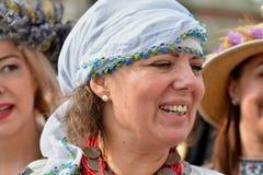 ` De Ziua Iei do ` - dia internacional da blusa romena em Constanta Fotografia de Stock