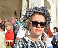 ` De Ziua Iei do ` - dia internacional da blusa romena em Constanta Fotos de Stock Royalty Free