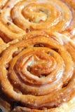 De zoete broodjes van de kaneelrozijn Stock Foto's