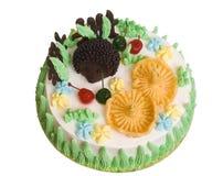 De zoete cake Stock Afbeeldingen