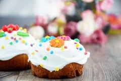 De zoete cake van Pasen stock afbeelding