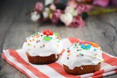 De zoete cake van Pasen stock foto