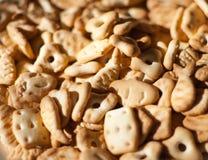De zoete crackers van de close-up royalty-vrije stock fotografie