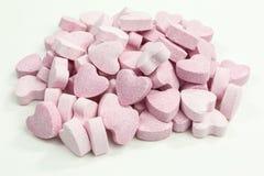 De zoete harten van het suikersuikergoed stock afbeeldingen