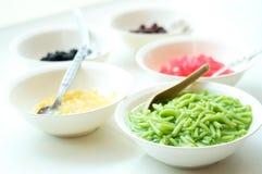 De zoete Ingrediënten van het Dessert Stock Foto